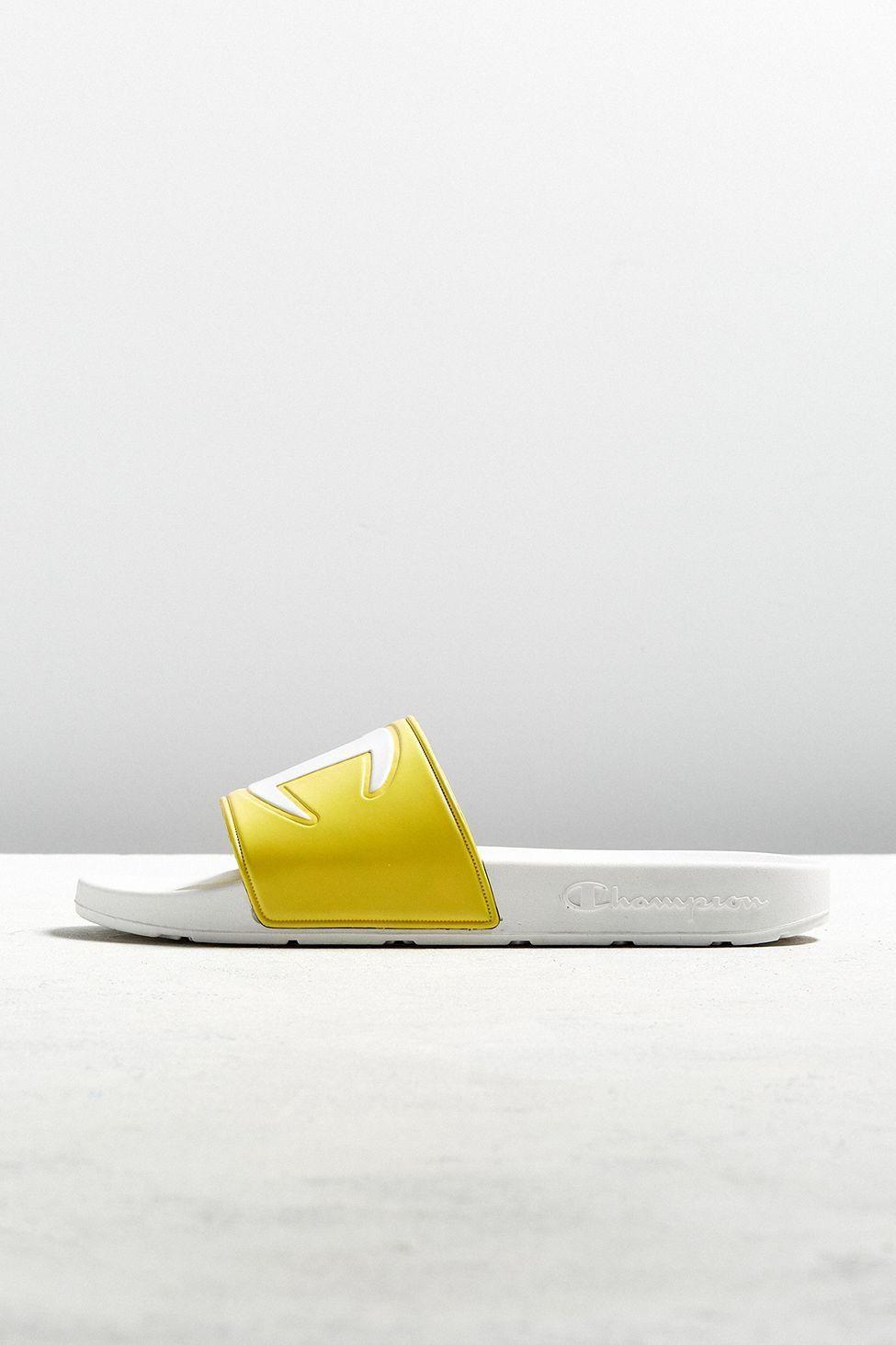 c5c004585553a Urban Outfitters Champion Big C Logo Slide Sandal - Yellow 12 ...