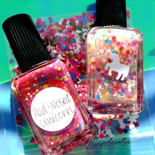 Lynnderella Limited Edition nail polish —Red-Nosed Unicorn Set