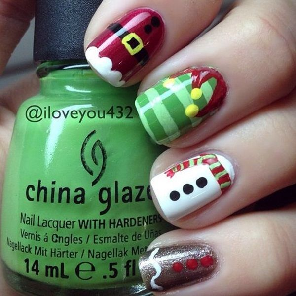 25 Pretty Santa Nails Ideas For This Christmas Party