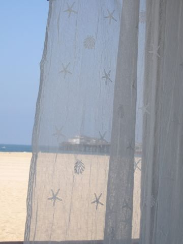 Coastal Curtains White Shell Panel Large 45x84 These Would Be