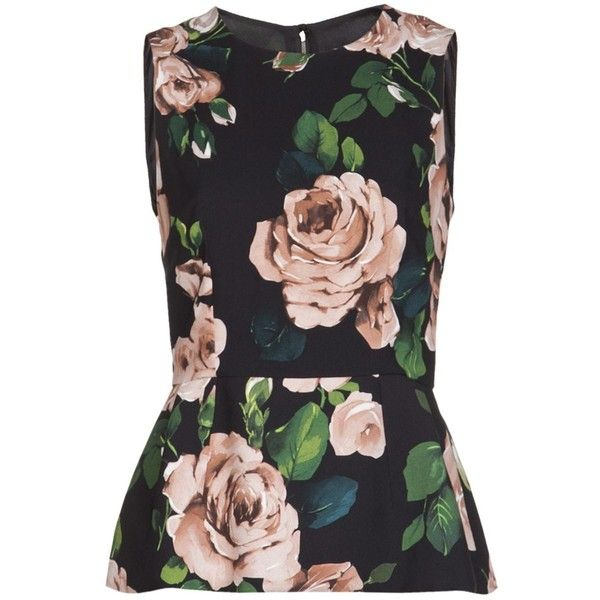 Dolce Gabbana floral peplum top ❤ liked on Polyvore featuring tops, blouses, shirts, floral print top, floral shirt, dolce&gabbana, peplum shirt y women tops