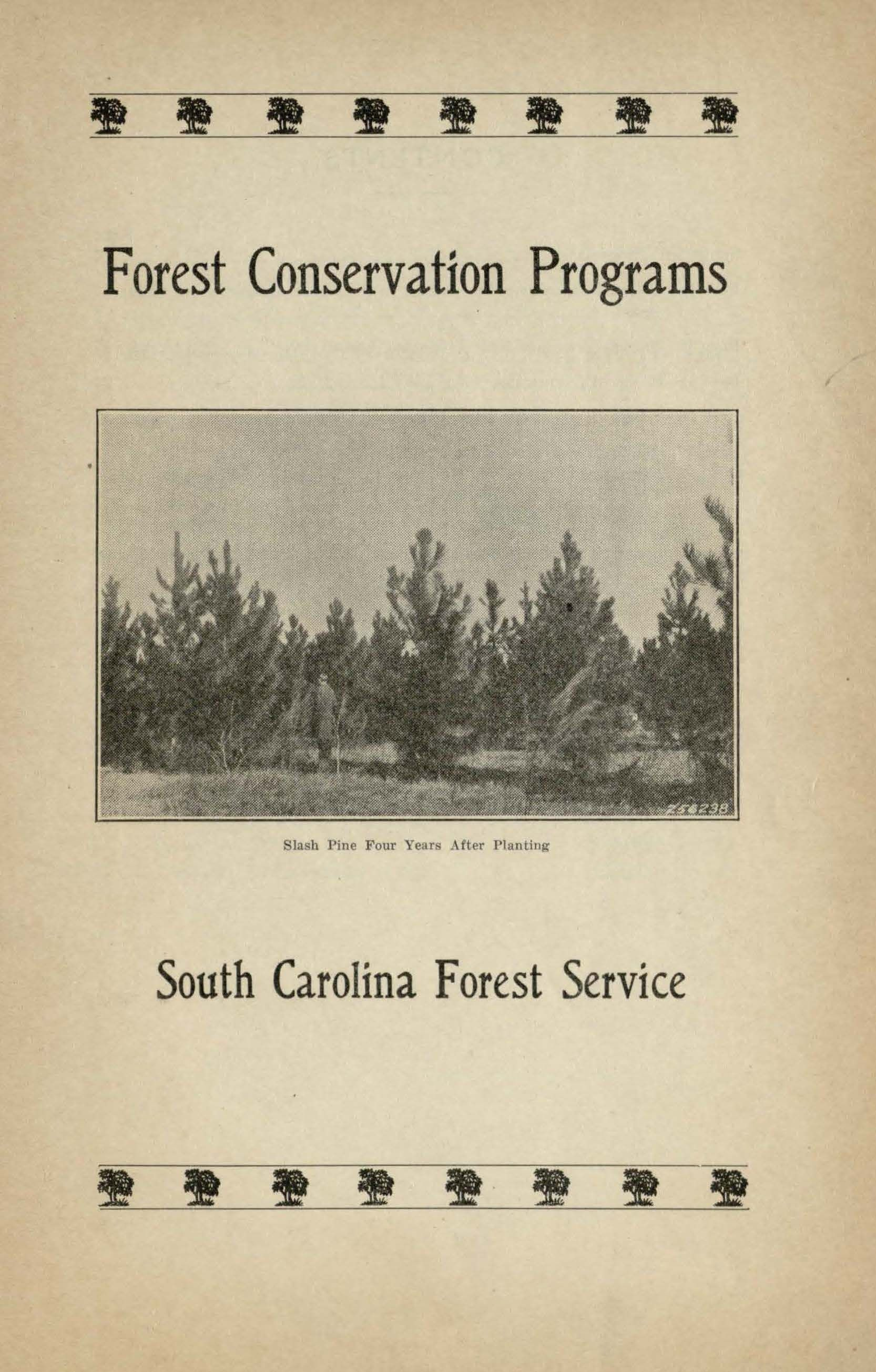 Forest conservation programs for schools, service clubs, women's clubs and  other civic organizations. Lenhart and South Carolina Forestry Commission.