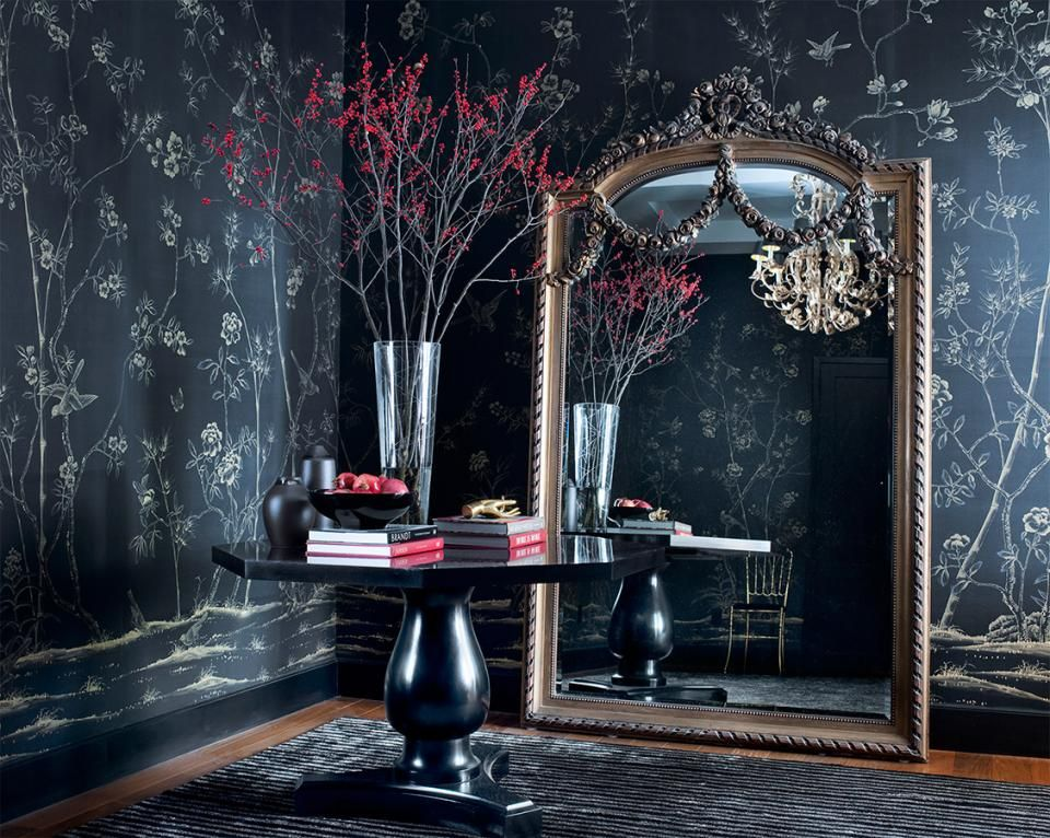 Design Trend A Gothic Style Added To This Hallway With Home Wallpaper