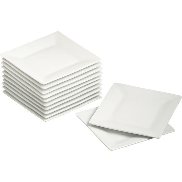 Set of 12 Square 6\  Appetizer Plates in Appetizer \u0026 Dessert Plates | Crate and  sc 1 st  Pinterest & Set of 12 Square 6"|598|598|?|en|2|18b2a8a29bec84d6d8a5167cbcc9b698|False|UNLIKELY|0.3211057186126709