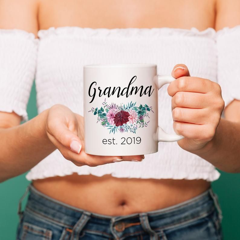 Custom Grandma Mug - Gigi Mug Nana Gift Floral Mugs Gifts for Nana Personalized Mug Grandma Coffee M #custommugs