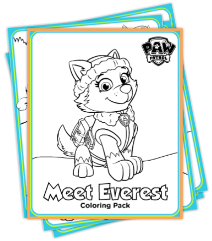 Free Paw Patrol Winter Coloring Pack and DIY Party Printables for ...