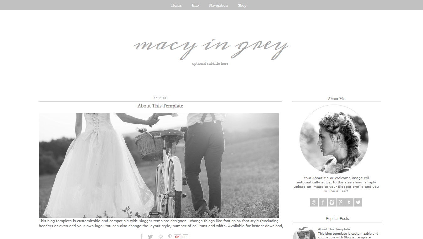 Premade Blogger templates starting at only $15.00.Check out our ...