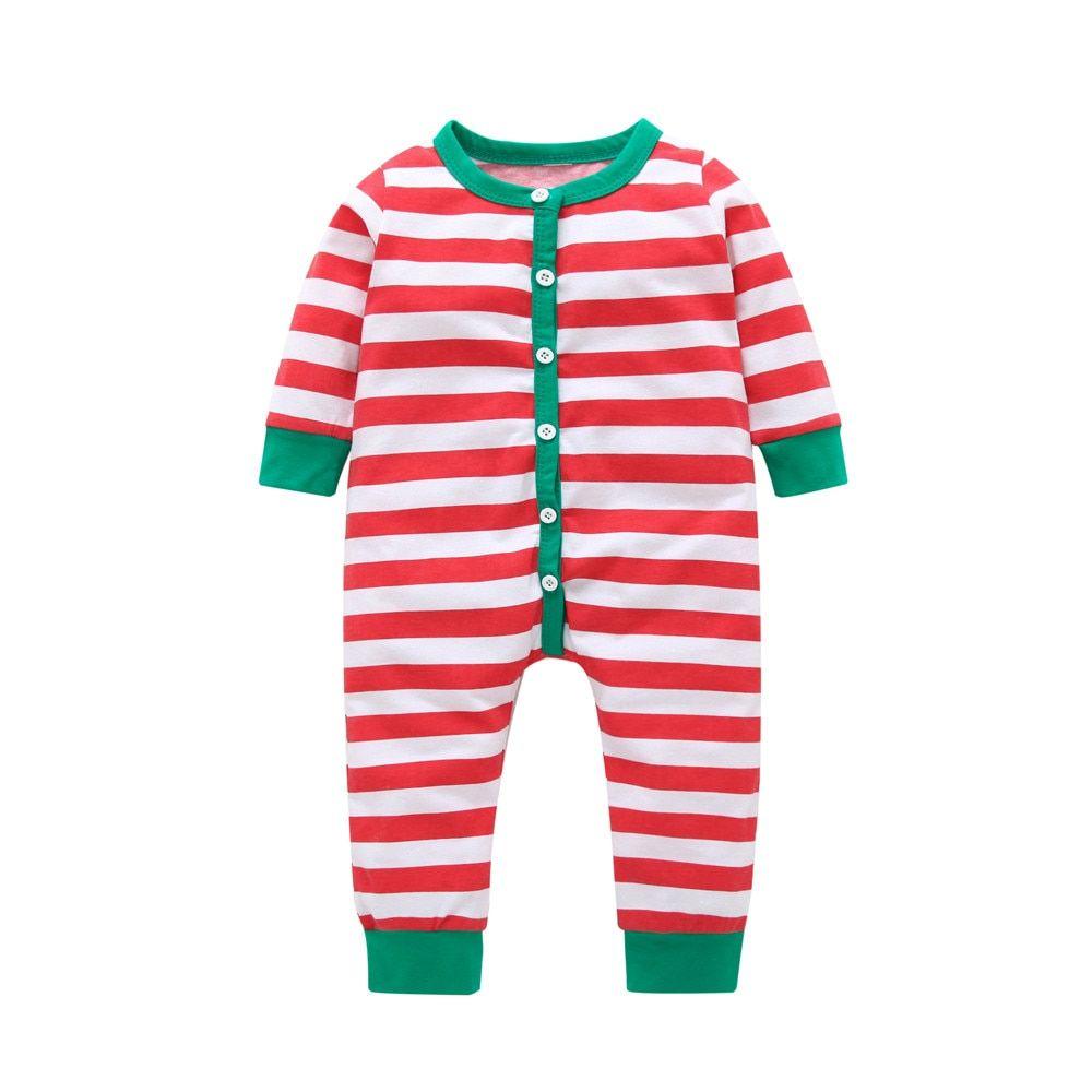 2bf9fe0266bc7 MUQGEW Christmas Baby Rompers Newborn Infant Baby Girl Boy Striped ...
