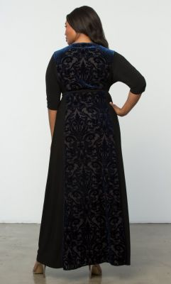 66bed17e5d Check out the deal on Ornate Velvet Maxi Dress-Sale at Kiyonna Clothing