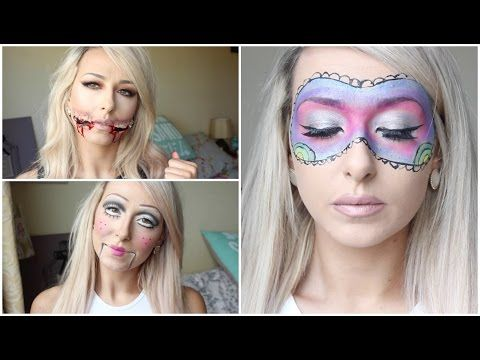 Quick Last Minute Halloween Ideas ♡ 3 Makeup Looks! - YouTube - halloween ideas for 3
