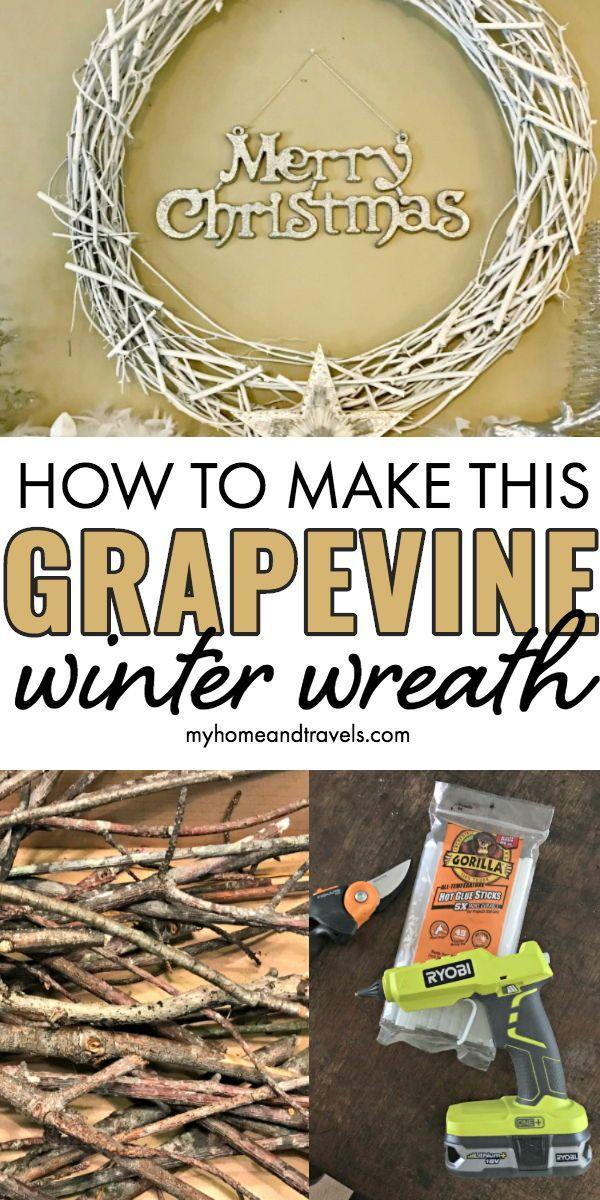 Photo of White grapevine wreath