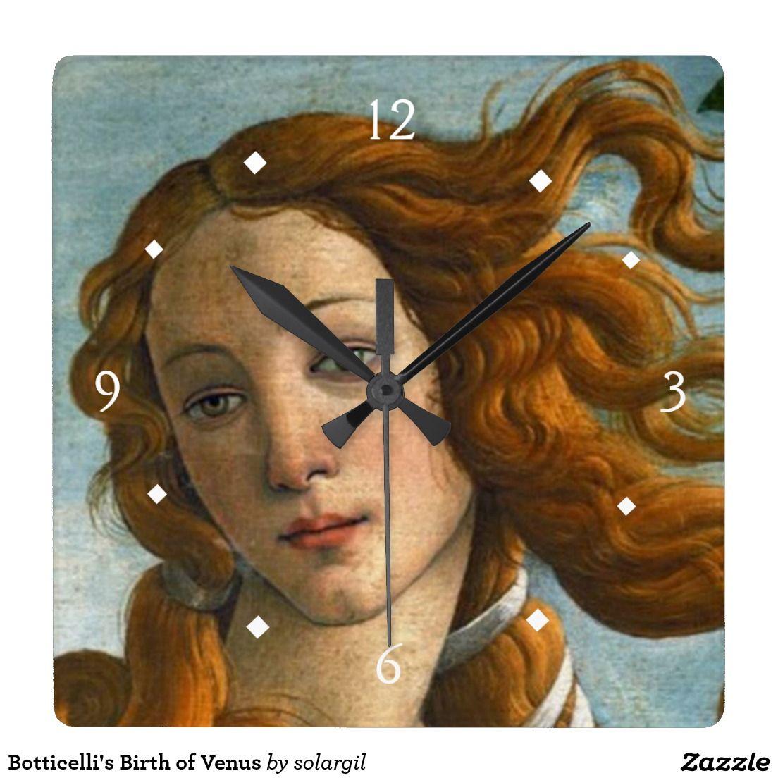 Botticelli's Birth of Venus Square Wallclock