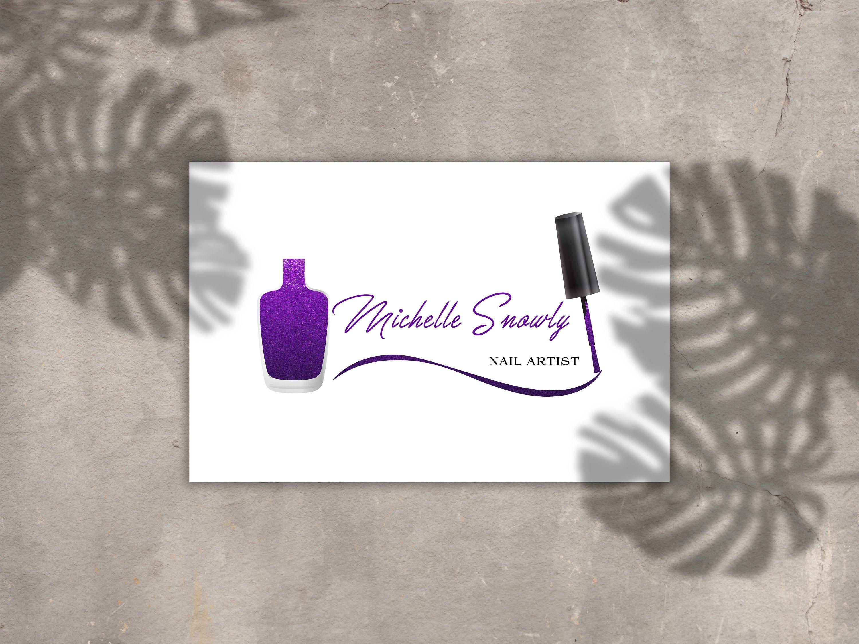 Custom logo, Nail Artist Logo, Nail Polish Logo, Cosmetics