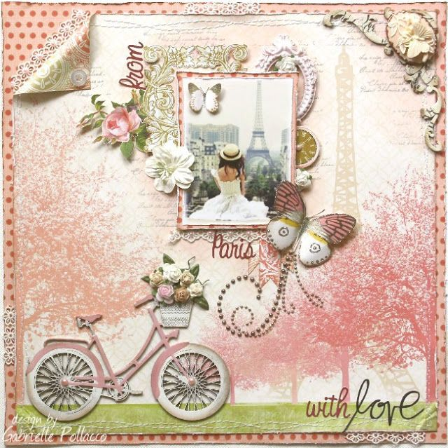 Layout made by Websters Pages design team member Gabrielle Pollacco using the NEW **Postcards From Paris II** collection  #Websters Pages #Postcard from Paris II #Gabrielle Pollacco