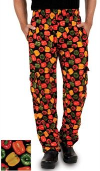 Utility Cargo Chef Pant - Pepper Fusion Print
