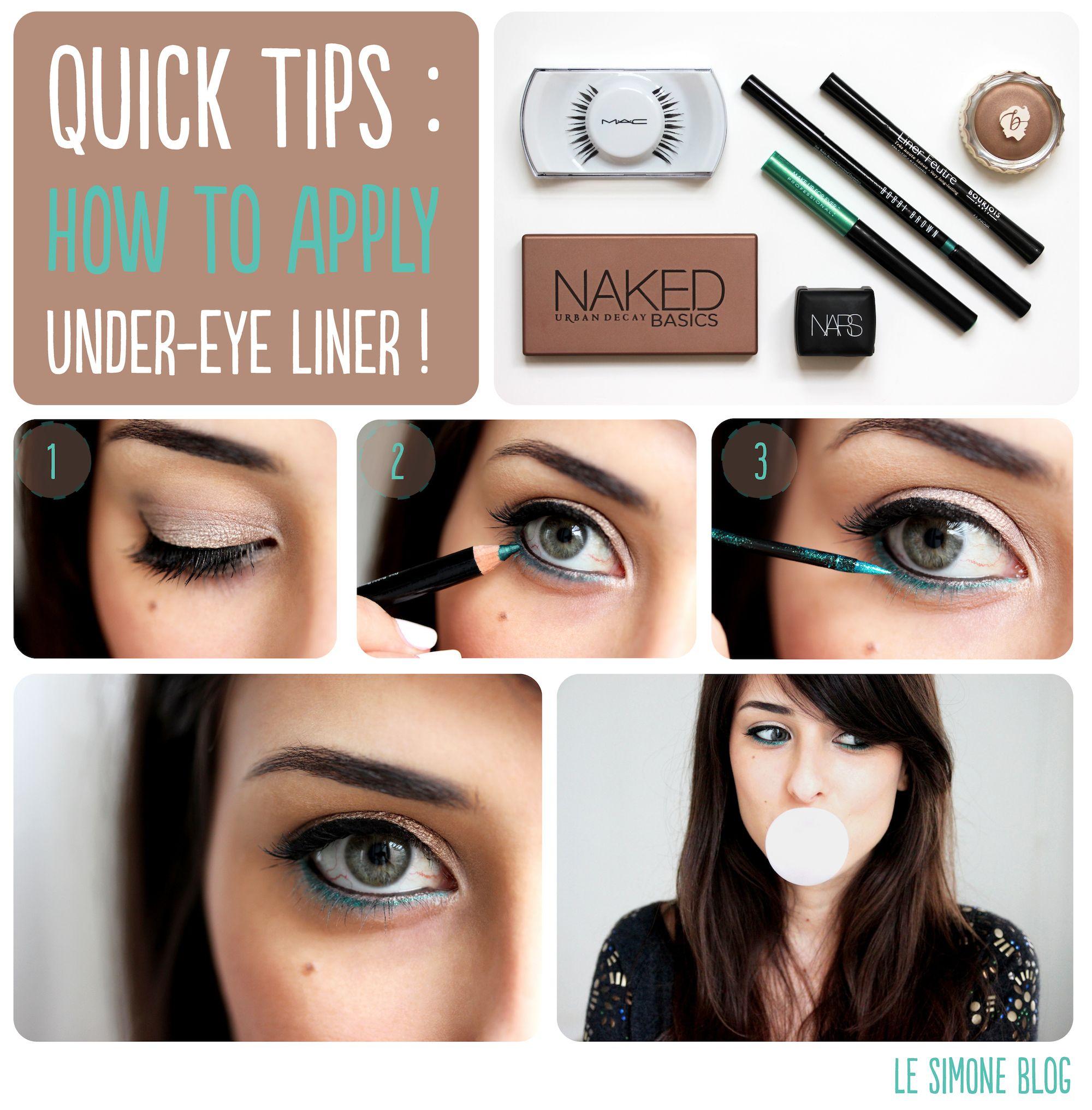 Quick Tips : L'under-eye liner ! (Le Simone Blog) | Smoky eye ...