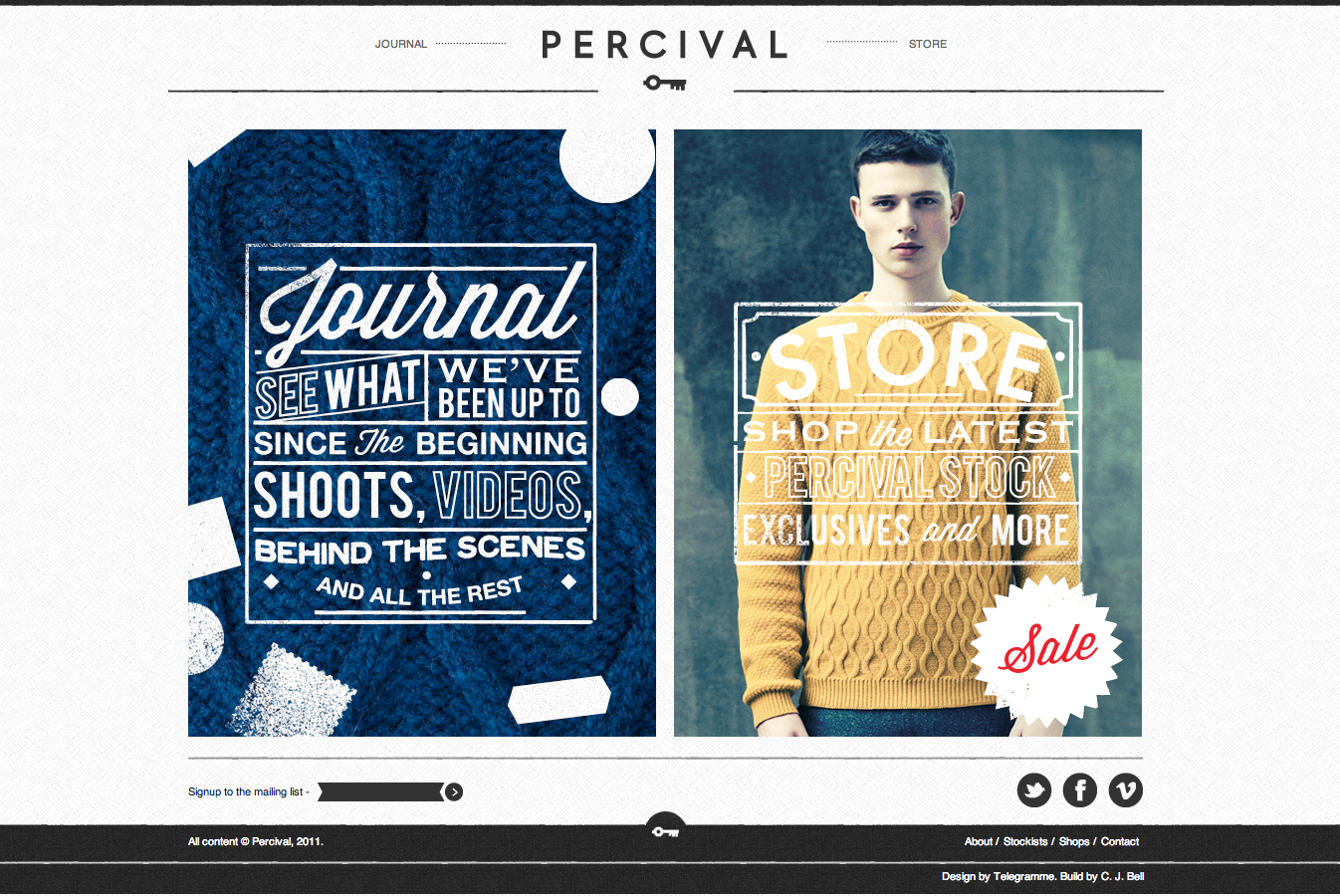 Percival clothing stockists