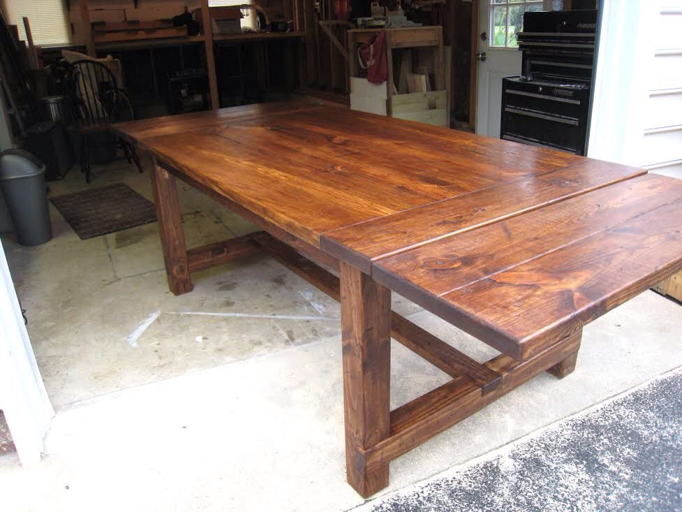 Make A Table With Inserts To Expand Or Fold Out For Holidays Or Parties With Extra Guests Diy Dining Room Table Farmhouse Dining Room Table Diy Dining Table