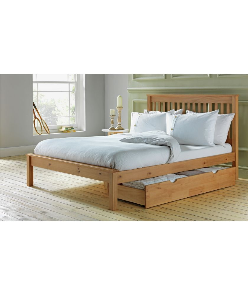 Collection Aspley Double Bed Frame Oak Stain At Argos Co Uk