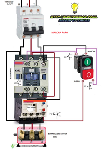 Esquemas el ctricos marcha paro con botonera doble for Abb motor starter selection tool