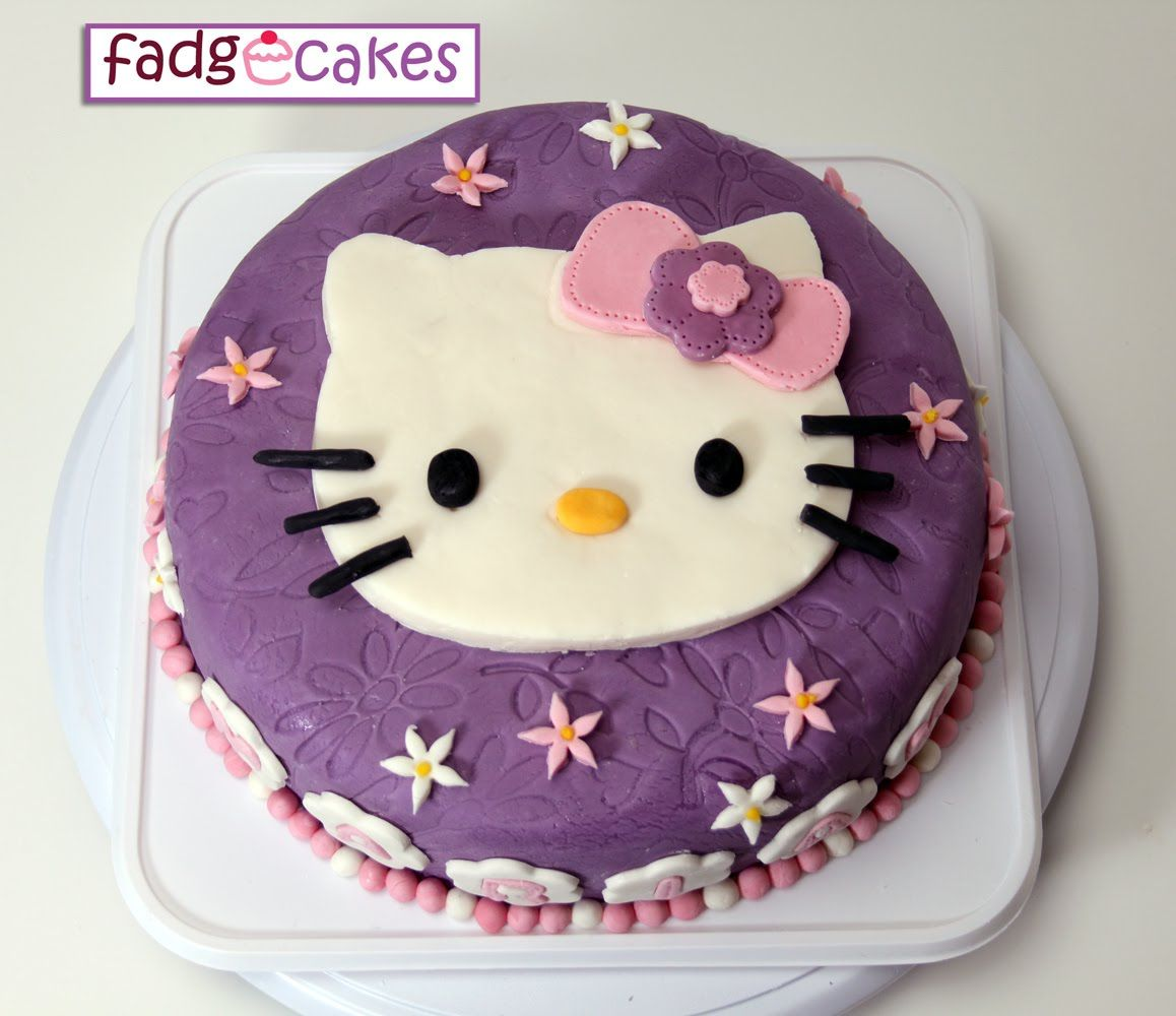 Fadgecakes Hello Kitty Purple Cake