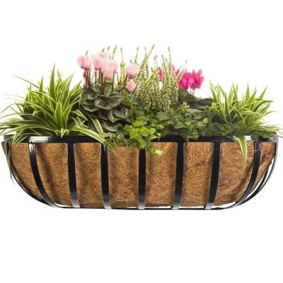 Vigoro 24 in. Horse-Trough Replacement Coco Liner ... on patio planters home depot, vertical garden home depot, brick planters home depot, post planters home depot, trellis planters home depot, window planters home depot, plant pots home depot,