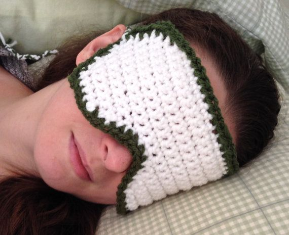 White & Green Sleep Mask (large) | Antifaz y Máscaras