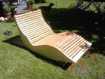 Holzliege garten  Holz Liege Pictures To Pin On Pinterest | outdoor style | Pinterest ...
