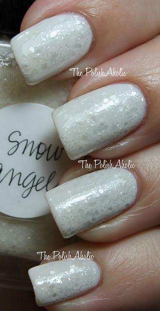 Lynnderella ~ Snow Angel + Essie ~ Marshmallow as the base