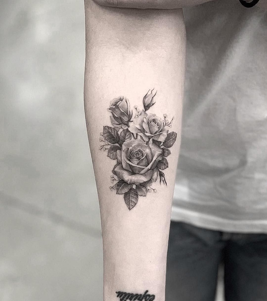 65 Tattoo Design Ideas For Girls Click Here For Larger Image Rose Tattoo Arm Tattoos Rose Tattoos For Women Tattoos For Women Flowers Inspirational Tattoos