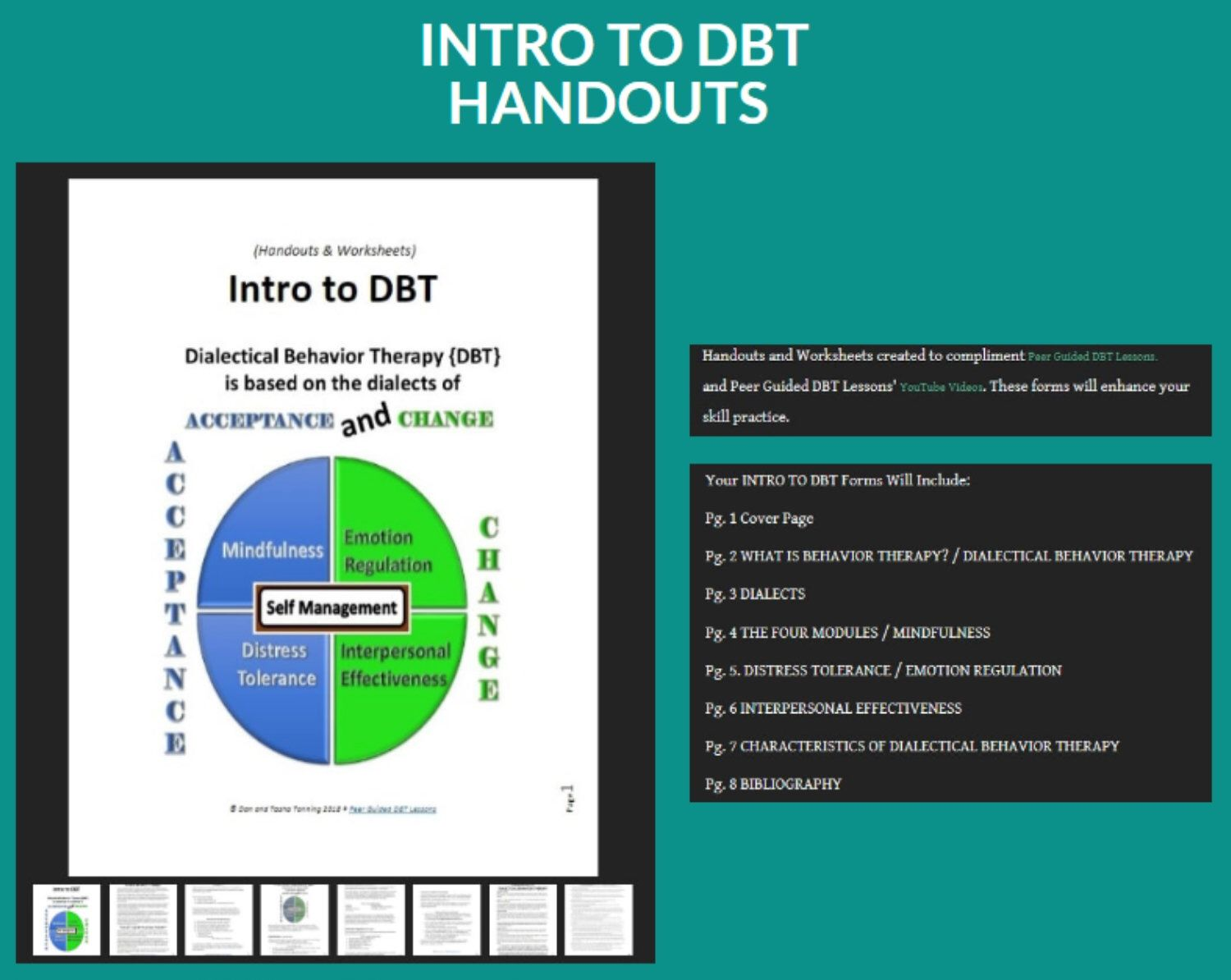 Dbt Lesson 0 1 Introduction To Dialectical Behavior