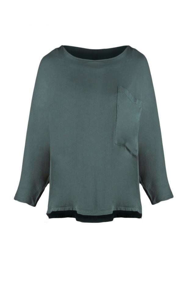 c446b93f1f8a Γυναικείο τοπ με δαντέλα MPLU-0733-bu Μπλούζες - Μπλούζες και πουκάμισα