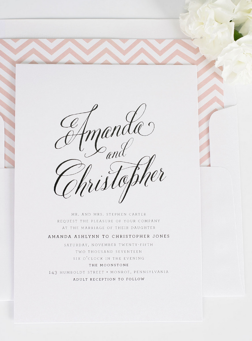 Rustic Modern Wedding Invitations | Shine wedding invitations ...