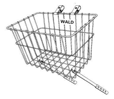 Wald 135 Front Grocery Bicycle Basket 14.5 x 9.5 x 9, Silver