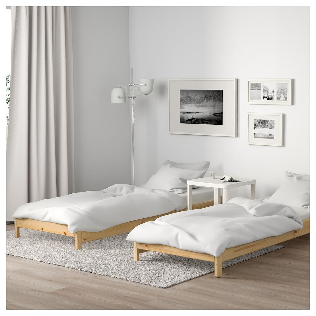 Utaker Stackable Bed With 2 Mattresses Pine Husvika Twin In
