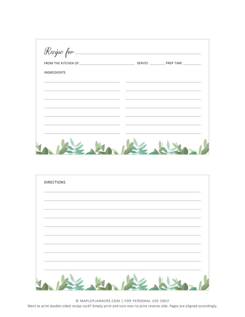 Printable Recipe Cards Template Download Free Printable Recipe Cards Template Food Printables Printable Recipe Cards