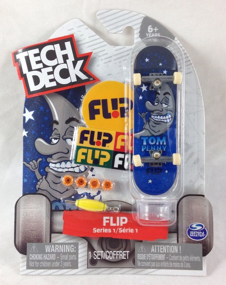 Ultra RARE Tech Deck Tom Penny Moon Stars Fingerboard Flip