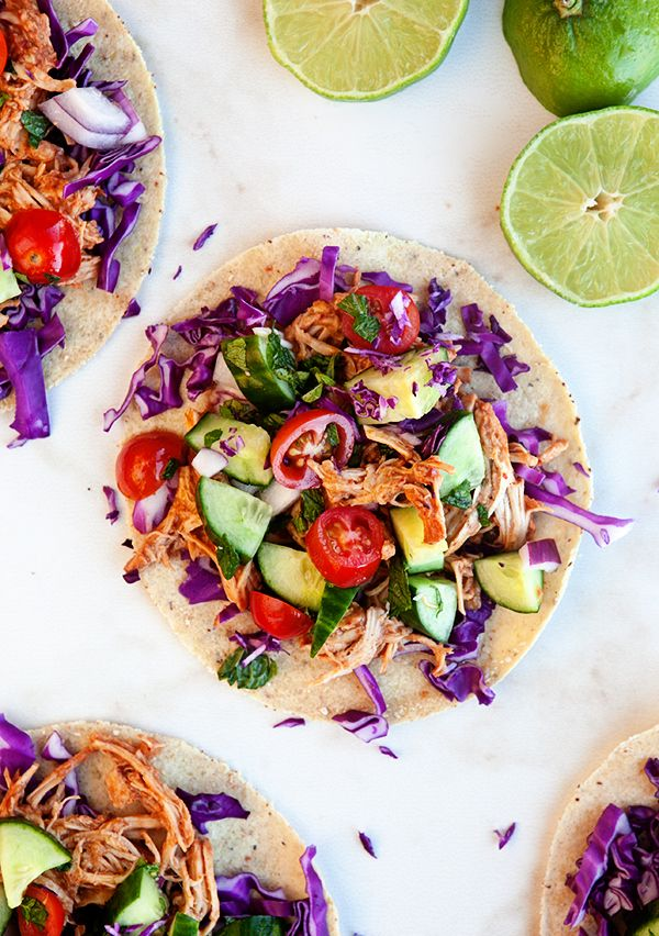 Easy, healthy crock pot meal. The Thai flavors combine with the chicken to make a delicious sauce. Pair it with fresh veggies for some crunch. Eat it on tortillas or in lettuce wraps for a low carb option too. Clean eating at its best!