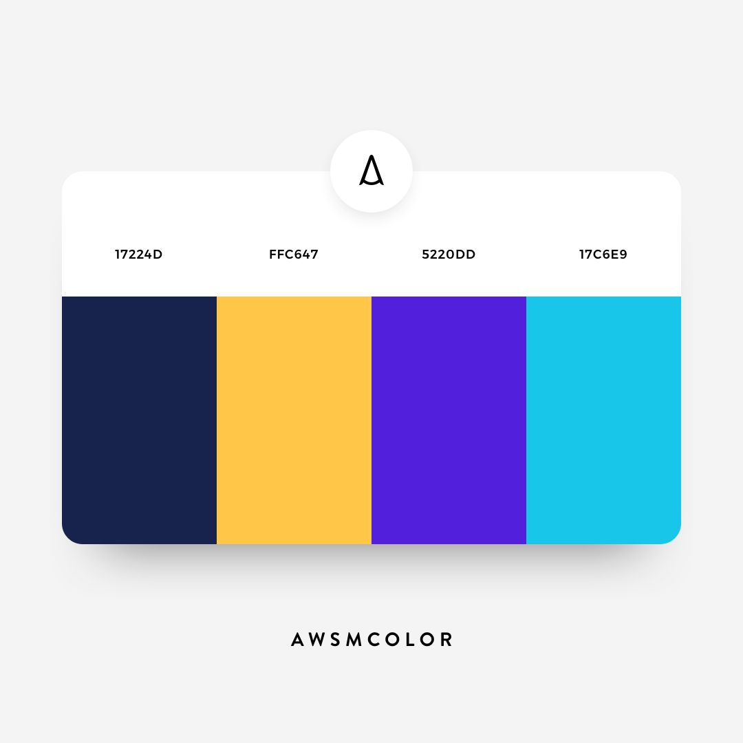 Photoshop Color Inspiration: 17224D • FFC647 • 5220DD • 17C6E9 Follow @awsmcolor On