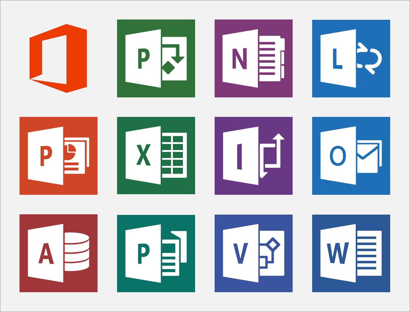 Microsoft Office 2013 Icons By Carlosjj On Deviantart Picto Logiciel Cours Informatique