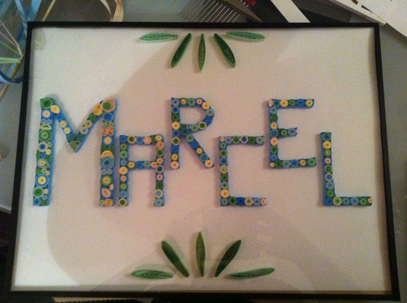 Quilling prénom Marcel