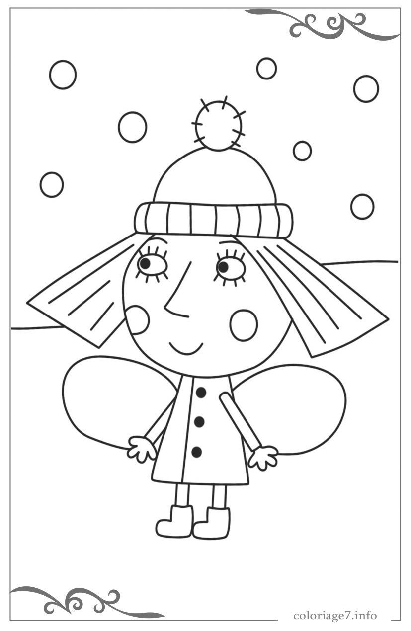 cool 7 Ben Et Holly Coloriage in 7  Coloring pages, Nick jr