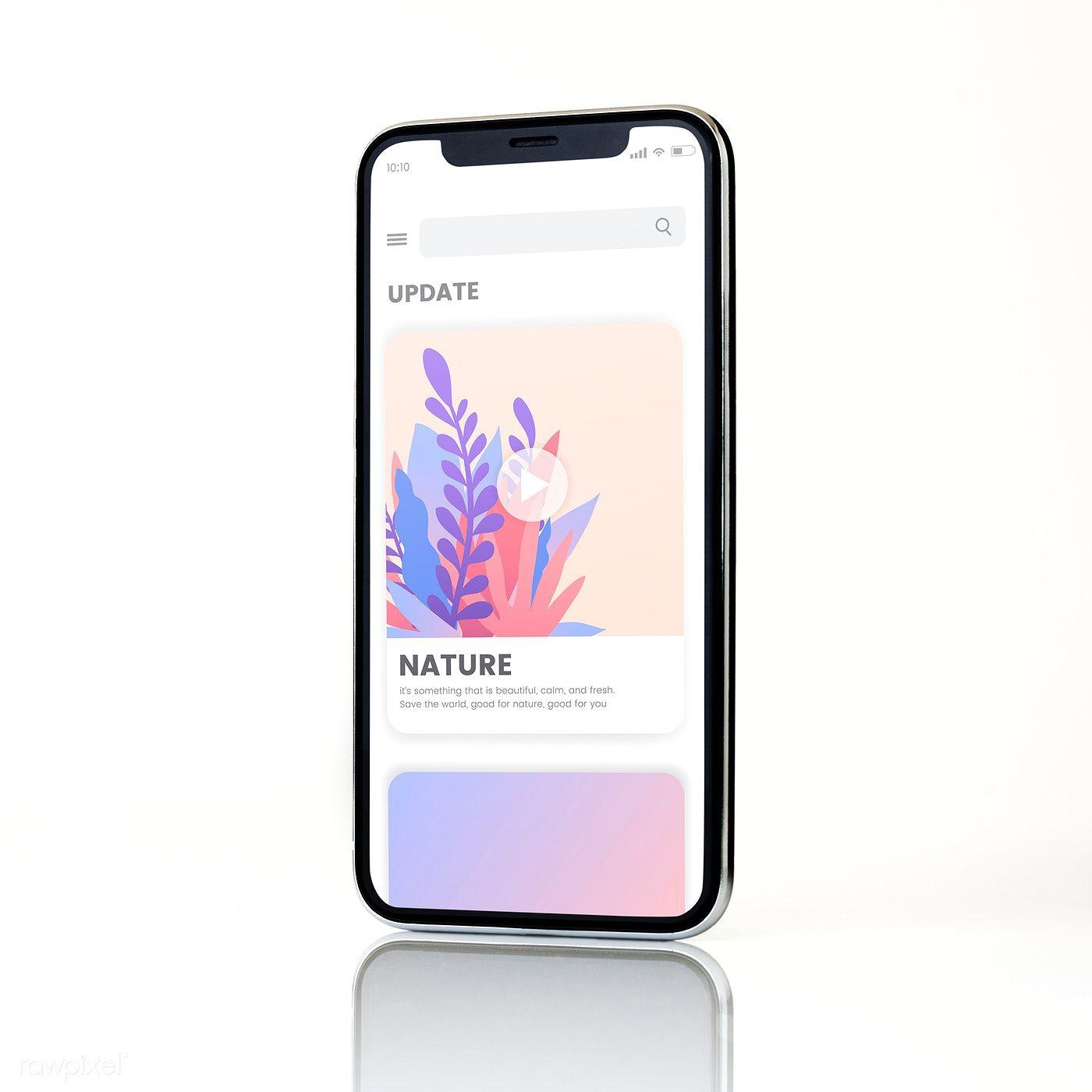 Download Premium Psd Of Full Screen Smartphone Mockup Design 524131 Mockup Design Iphone Mockup Mockup