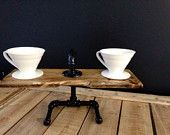 Items op Etsy die op Handcrafted Wood and Steel Pour Over Coffee Brewing Stand lijken