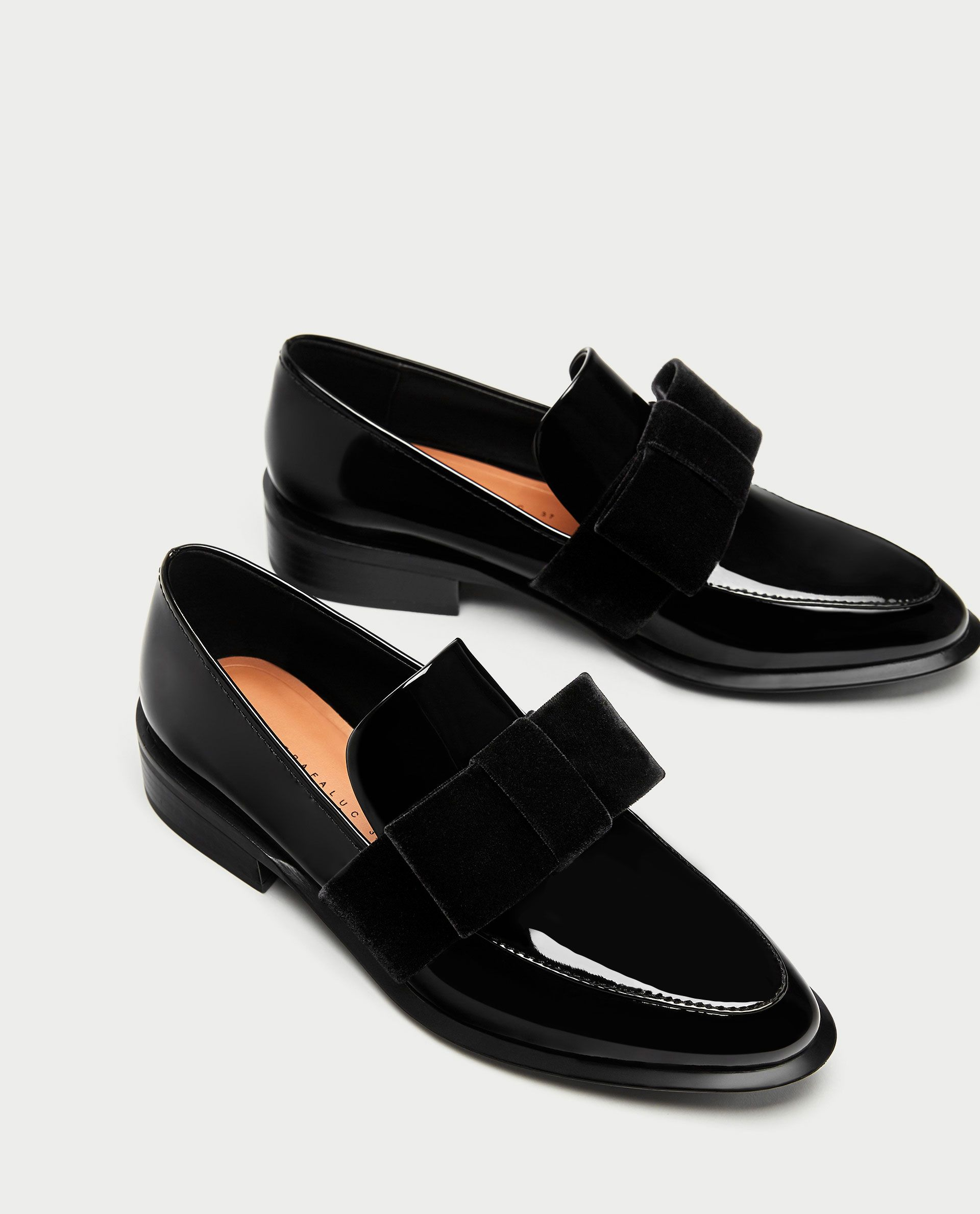 9ae56714fcd Image 3 of LOAFERS WITH VELVET BOW from Zara