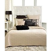 INC International Concepts Bedding, Prima Coverlet Collection.  Beige Twin  115x2