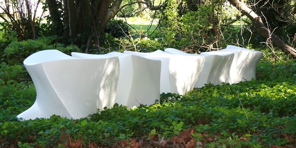 outdoor furniture white. Outdoor Public Seating Furniture Design Of Spine L5 Bench By Marie Khouri White