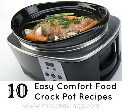 10 Easy Comfort Food Crock Pot Recipes