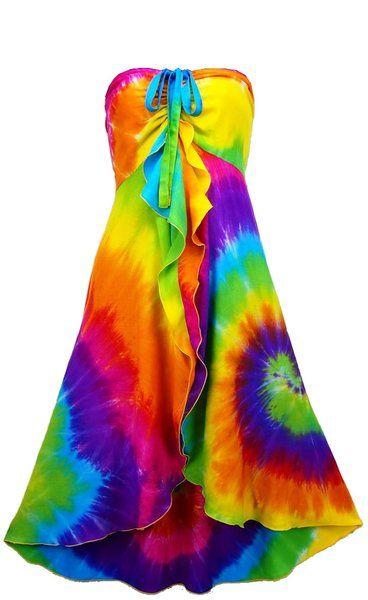 dae982e47af Vibrant Spiral Tie-Dye Gigi Sundress