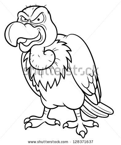 Cute Vulture Colouring Pages Animal Drawings Drawings Cartoon Vulture